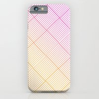 iPhone & iPod Case featuring Woven Diamonds in Pink and Orange by One Curious Chip