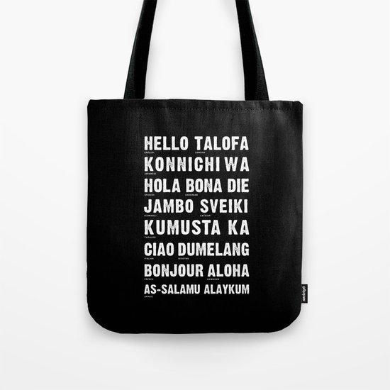 Hello Language Tote Bag