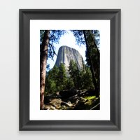 Devils Tower, Wyoming Framed Art Print