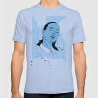 Woman in Blue Mens Fitted Tee Athletic Blue SMALL