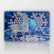 Silver Blue Deer Laptop & iPad Skin