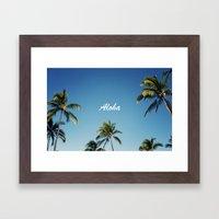 Aloha Palm Trees Framed Art Print