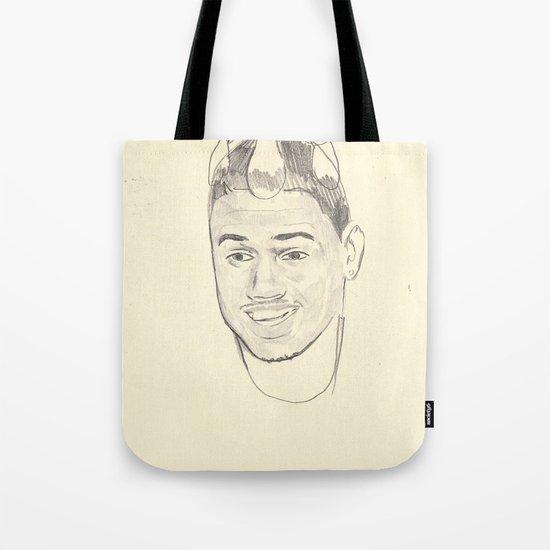 Chris Brown Punch Bag Tote Bag