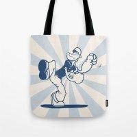 the Sailor with Dragon Tatoo Tote Bag