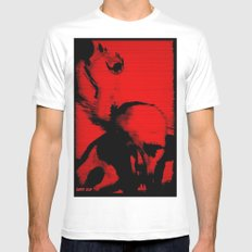 Parasite Oddity (Red Mix) White Mens Fitted Tee SMALL