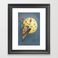 Moon city Framed Art Print