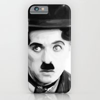 iPhone & iPod Case featuring Charlie Chaplin by Thousand Lines Ink