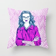 Mind Your Own Business Throw Pillow