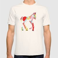 Baby horse colour Mens Fitted Tee Natural SMALL