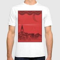 Une Nuit à Paris (red V… Mens Fitted Tee White SMALL