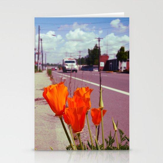 Roadside flowers Stationery Card