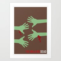 The Walking Dead - Minim… Art Print