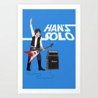 Han's Solo Art Print