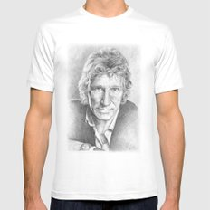 Roger Waters of Pink Floyd (ANALOG zine) Mens Fitted Tee SMALL White