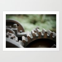 gears (Oregon)  Art Print