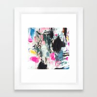 Luana searches her bag Framed Art Print