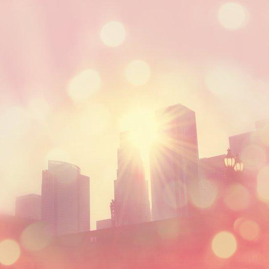 City of Lights. downtown Los Angeles skyline photograph Art Print