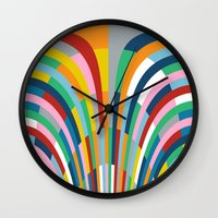 Rainbow Bricks Wall Clock