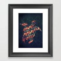 The Pattern Tortoise Framed Art Print