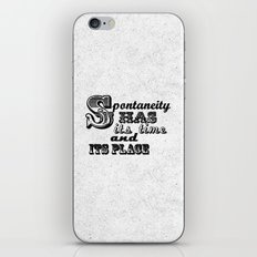 Spontaneity iPhone & iPod Skin