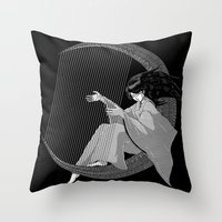 Crescent Melody Throw Pillow