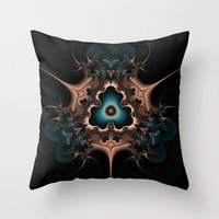 Layered hearts and thorns Throw Pillow