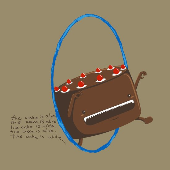 The Cake is Alive Art Print