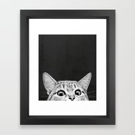 Framed Art Print featuring You Asleep Yet? by Laura Graves