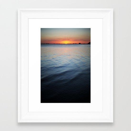 Calm surf Framed Art Print