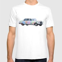 Limo Paisley Mens Fitted Tee White SMALL