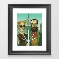 American Gothic High Framed Art Print