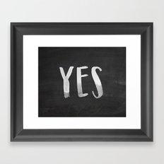 YES Chalkboard Framed Art Print