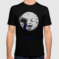 a trip to the moon Black SMALL Mens Fitted Tee