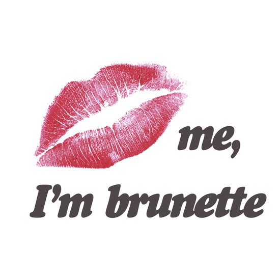 Kiss me I'm brunette Lips Canvas Print