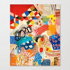 Wallpaper And Diamonds P… Canvas Print