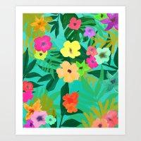 BLUSH TROPIC Art Print