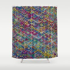 Cuben Network 1 Shower Curtain