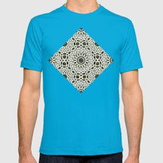 ARABESQUE Mens Fitted Tee Teal SMALL