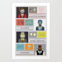 Django Unchained Charact… Art Print