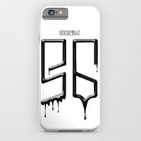 iPhone & iPod Case featuring S6 TEE BLACK PAINT by kravic