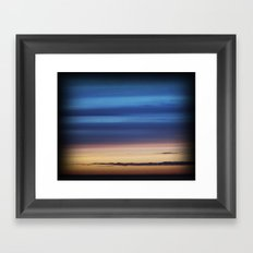 Blue Streaky Clouds Framed Art Print