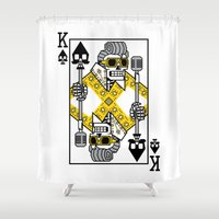 Dead King Card Shower Curtain