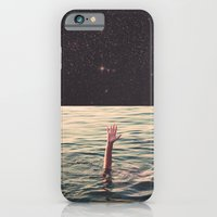 iPhone Cases featuring Drowned in space by lacabezaenlasnubes