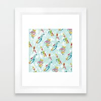 Abstracted Rockets Remix Framed Art Print
