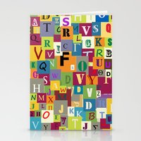alphabet Stationery Cards featuring Alphabet by Rceeh