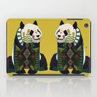 panda ochre iPad Case