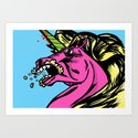 Rabies Unicorn Art Print