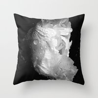 peony in the morning  Throw Pillow