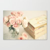 Flowers for reading Canvas Print