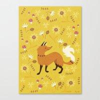 Cute as a Fox Canvas Print